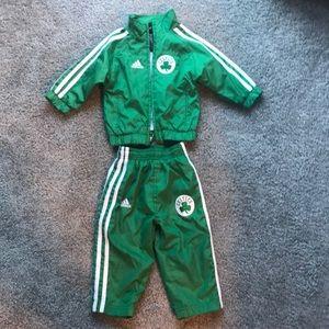 Boston Celtics Adidas warm up suit